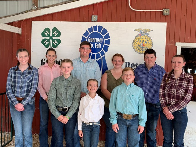 Ephraim Fowler was crowned 2021 Supreme Showman at the Guernsey County Fair.  Fowler is a member of the Get Along Gang 4-H Club. The Junior Fair Board holds the contest each year with the overall showman winners from beef, dairy, equine, boer goat, dairy/pygmy goat, poulty, rabbit, sheep and swine categories. They are, front from left, Madison Peters, Madyson Christman, Taylor Hinson, Ephraim Fowler, Taylor Poulton, back row, Madison Paden, Clay Vasko, Sydney Christman, and Sawyer Reid.