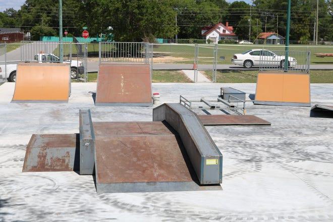 Skate park at the DeFuniak Springs Community Center prior to closure.