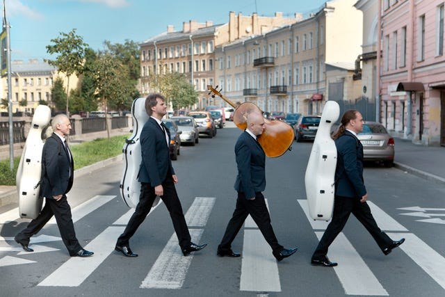 On Sunday, the Rastrelli Cello Quartet opens the 49th season of free concerts and art exhibits hosted by the Beaches Fine Arts Series. The Russian group offers a unique spin on everything from classical music to jazz and Beatles' hits.