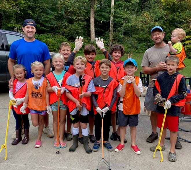Henry Braxton's birthday party including an outing to help clean the Catawba River Basin.