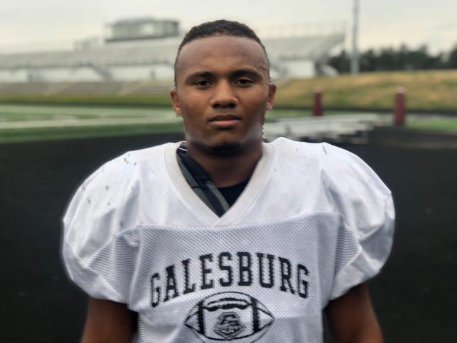 Galesburg High School senior Damian Thomas plays a key role for the Silver Streaks defense.