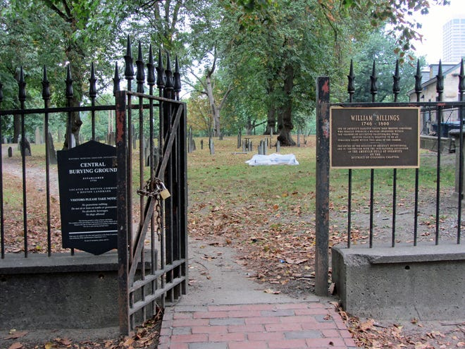 The Central Burial Ground was established on Boston Common in 1756.