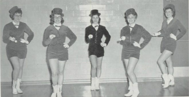 Pictures of the Past is from the 1959 Lincoln Community High School yearbook. The photo shows the Majorettes of that year. From left are: Sandra Beaver, Carol Koch, Mary Reeves, Sheryl Wiggers and Donna Chrisman.