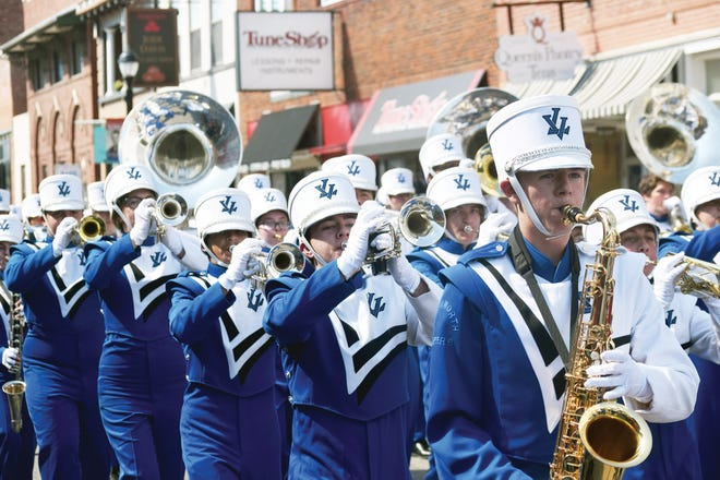 Leavenworth High School band students participate in the 2019 homecoming parade. This year's homecoming parade is planned for Friday in downtown Leavenworth.