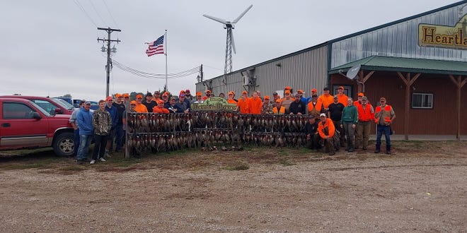 Veterans from around the state gathered to participate in a hunt designed for them at the Heartland Preserve Saturday morning.