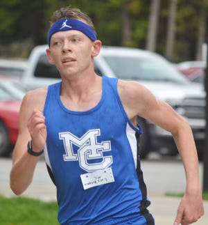 Mackinaw City's Lars Huffman placed first overall in an Eastern U.P. cross country event Monday in Engadine.