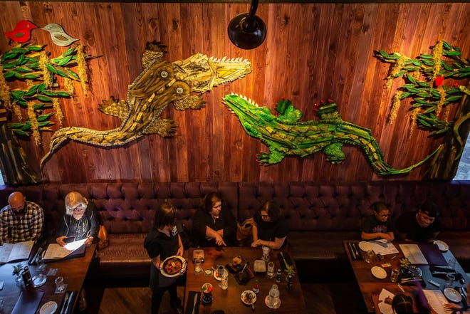 Voodoo Bayou is a New Orleans-themed restaurant at the Downtown Palm Beach Gardens plaza. It made its debut on March 11, 2020, just before the COVID shutdown of restaurant dining rooms.