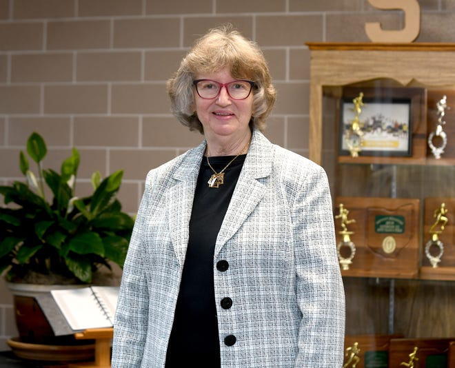 Beth Frank, director of campus ministry for St. Thomas Aquinas Middle and High School, The Canton Repository's Synchrony Financial Difference Maker for October..  Tuesday, October 05, 2021
