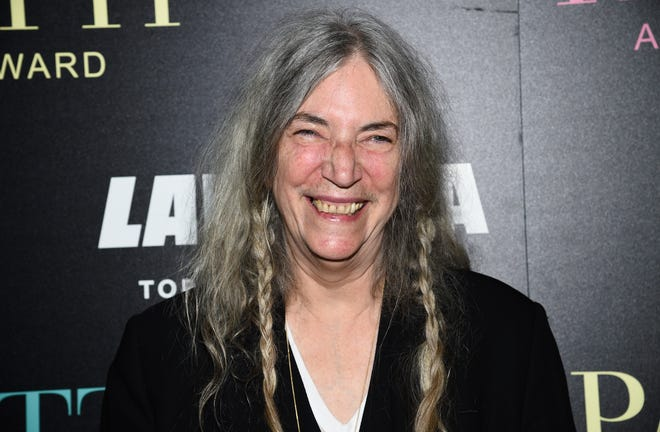 A 2019 photo of singer/songwriter Patti Smith in New York. She will perform a concert to kick off an exhibition of her work with photographer Robert Mapplethorpe at Selby Botanical Gardens.