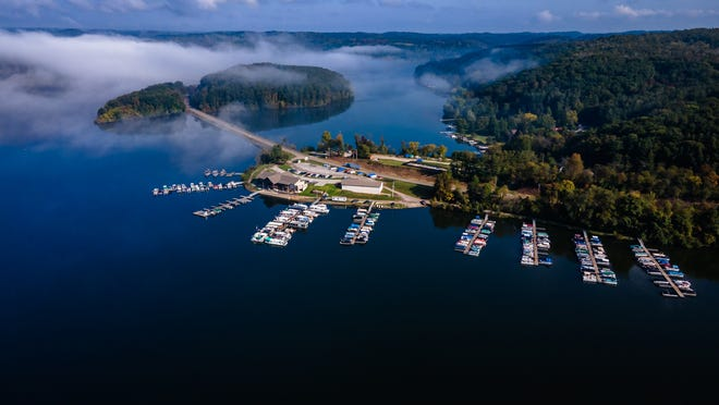 The new Tappan Lake Marina building is pictured during media day, Tuesday, Oct. 5 in Scio.