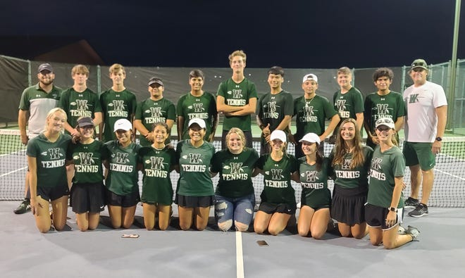 This past Tuesday the Waxahachie Indians/Lady Indians tennis teams defeated Waco 10-9 to secure their berth into the 6A playoffs. Waxahachie will face Belton next Tuesday, Oct. 12 at 1 p.m. at Belton High School for the bi-district round.