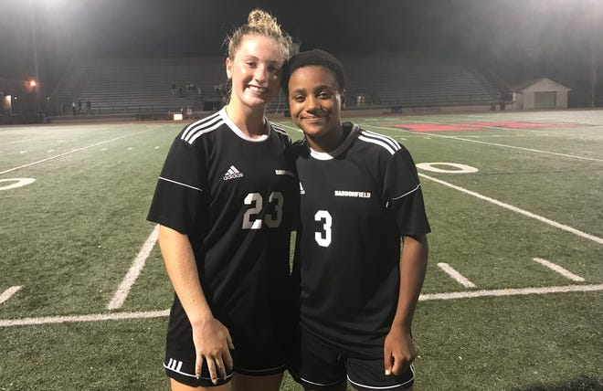 Juliet Walls, left, and Sara Smith are captains for the Haddonfield Memorial High School girls' soccer team, but both have had to lead in different ways this fall.