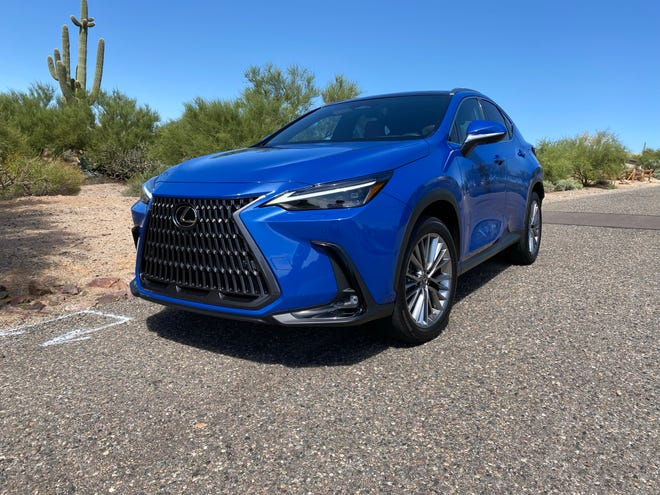 The 2022 Lexus NX compact SUV offers a pair of gasoline engines, a hybrid and a plug-in hybrid.