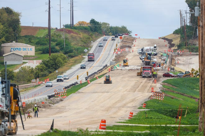 Road crews continue work on State Highway 23, just east of the city of Fond du Lac. The project expands a 19-mile stretch of highway between Plymouth and Fond du Lac into 4-lane highway for a price tag of $173 million.
