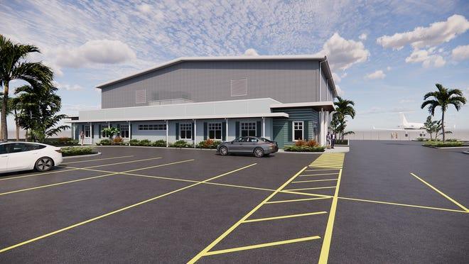 Rendering of Punta Gorda FBO Hangar