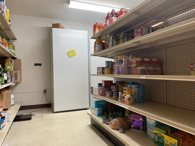 Golden's House on-site food pantry serves households facing domestic abuse and people living at the shelter or transitional living program.