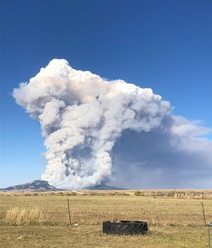 The South Moccasin Fire northwest of Lewistown has burned 5,000 acres as of Tuesday afternoon.