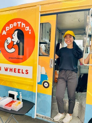 Thitinart Boriboon, in her new AppeThai food truck at SouthSide Garage, Oct. 2, 2021.