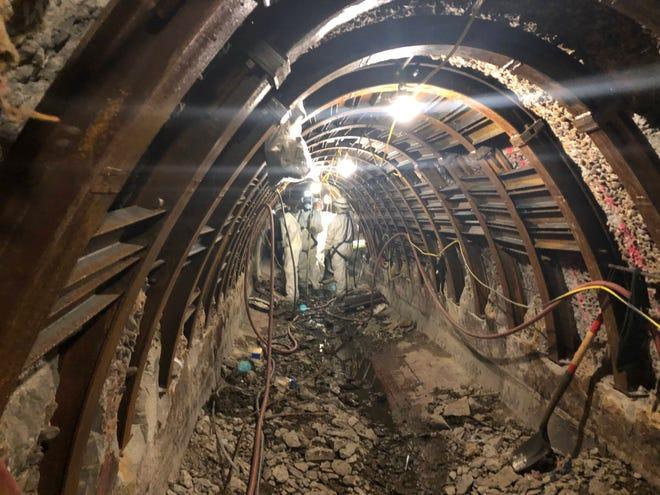 Inside a major sewer line repair job