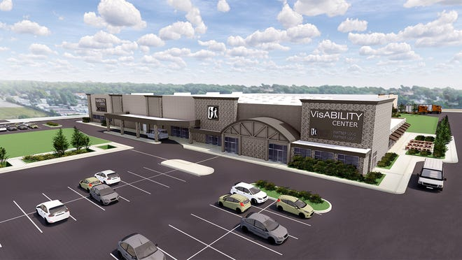 A rendering shows the future home of Beyond Vision's new facility at 1540 S. 108th St., West Allis. Beyond Vision, a Milwaukee-based nonprofit, is transforming the former Sam's Club location into its new VisABILITY Center, a facility that will help accelerate career and economic opportunities for thousands of individuals who are blind or have vision loss in the state of Wisconsin.