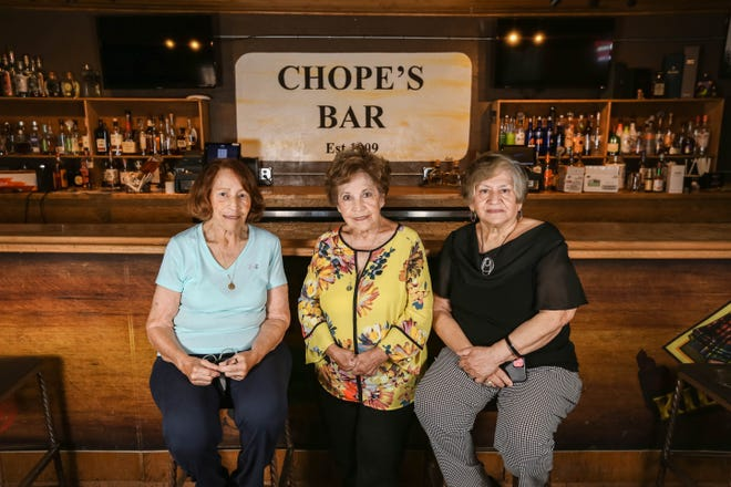 Amelia Rivas (left), Cecilia Yañez (center) and Margarita Martinez (right) are pictured at Chope's Bar on Tuesday, Oct. 5, 2021.