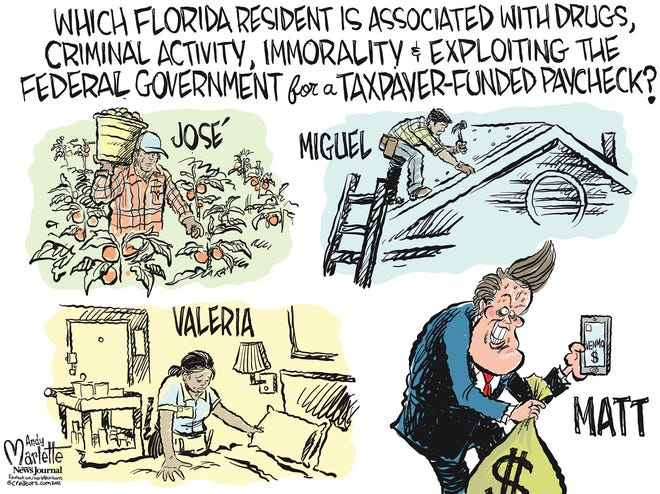 Marlette cartoon: Who is the real threat to Florida families?