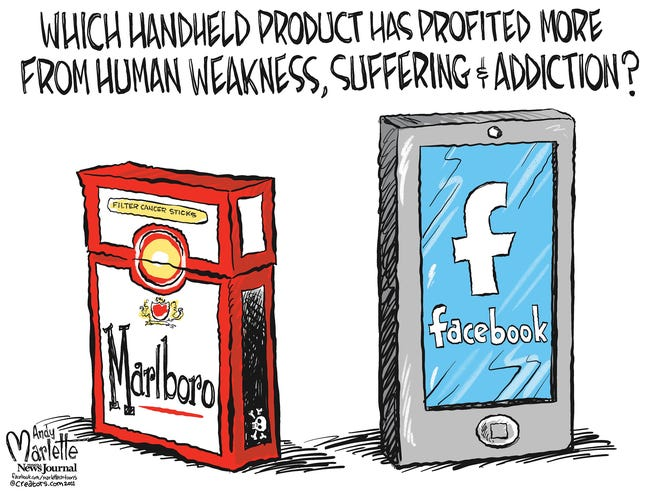 Marlette cartoon: Addiction profits