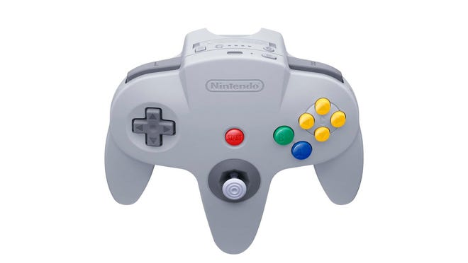 The new Nintendo 64 controller for the Switch console.