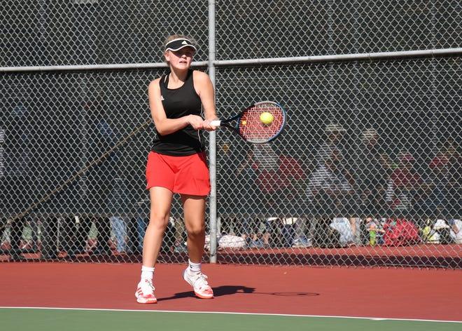 The Class A State girls tennis finals began Monday, Oct. 4, 2021.