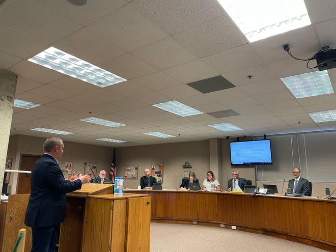 Minnehaha County's state's attorney Daniel Haggar discusses law enforcements' role in upcoming marijuana dispensary on Tuesday, October 5, 2021.
