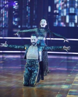 """Pasha Pashkov and Christine Chiu dance to """"Stronger"""" on Monday night."""