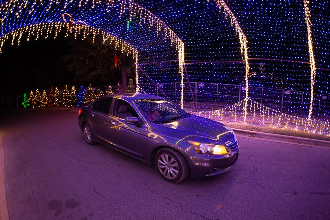 The 2020 Austin Trail of Lights at Zilker Park was a drive-thru event because of the pandemic. It returns in the same format this year.