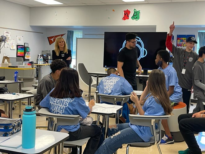 This summer, The Kindness Campaign, founded by Andra Liemandt, far left, brought Kind Music to the Austin Police Department's youth summer camp. The program teaches people how to use their emotions to write a song.