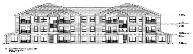 The Lantana Apartments are planned for a 10-acre site at Rattler Road and Old Bastrop Highway, across from San Marcos High School. (Courtesy of Mission DG)