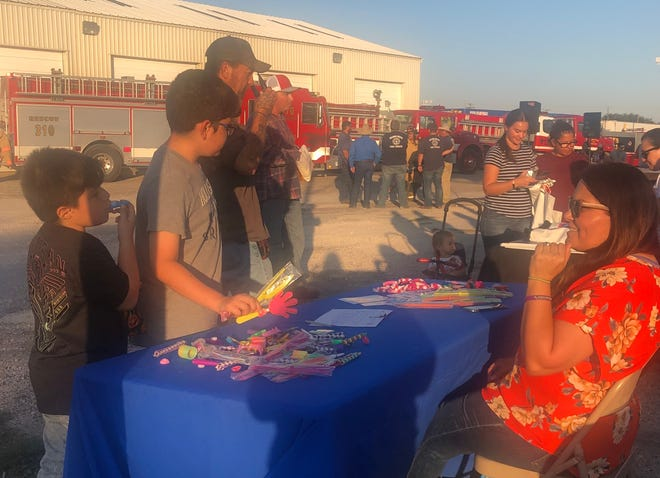 The community of Orange Grove participated in the National Night Out at the Orange Grove Fire Department.