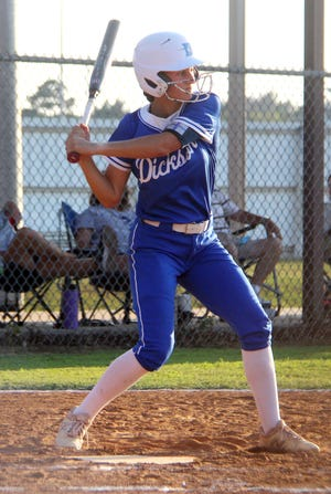 Dickson's Emily Nogueria finished with three hits and three RBIs on Wednesday during a 10-4 win over Perkins-Tryon at Class 4A Regionals.