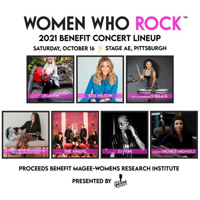 Η μοναδική ομάδα του Women Who Rock επωφελείται από το Stage AE.