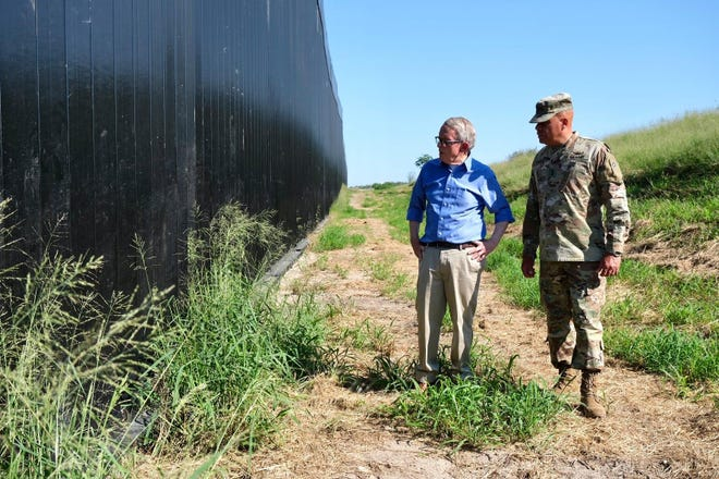 Ohio Gov. Mike DeWine and Maj. Gen. John Harris visited the U.S.-Mexico border this week to visit Ohio National Guard members deployed there. DeWine plans to participate in a briefing on drug trafficking and immigration issues with 10 other GOP governors.
