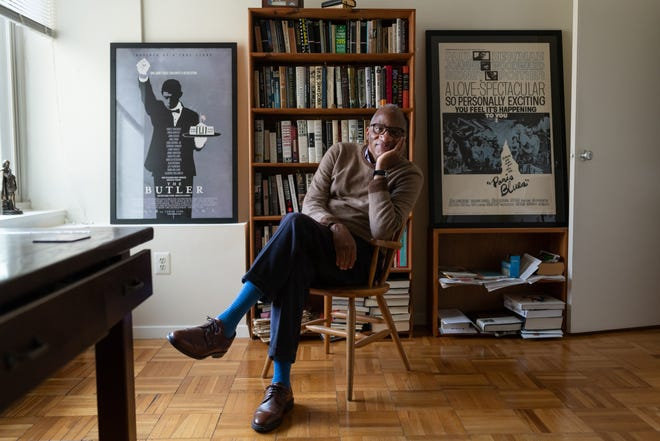 Author Wil Haygood sits for a portrait in his home office last Tuesday,