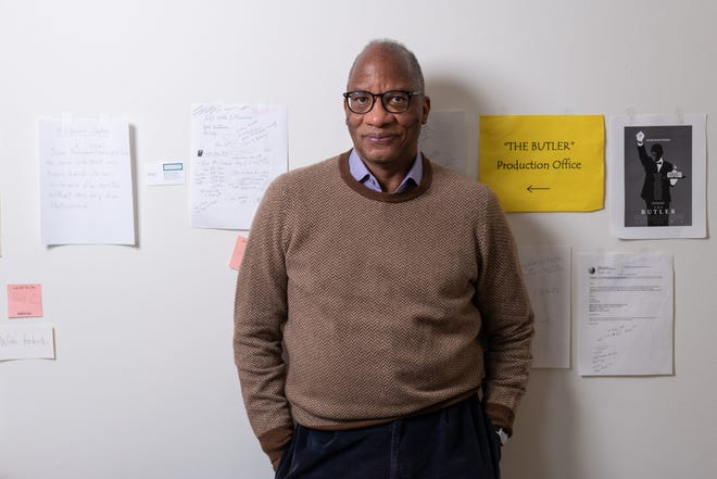 Author Wil Haygood stands for a portrait in his home office in Washington, D.C. on Tuesday Oct. 5, 2021.