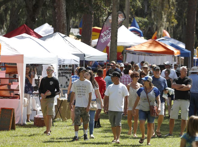 The Creekside Festival at Princess Place Preserve is scheduled for 8 a.m. to 5 p.m. Saturday and Sunday.