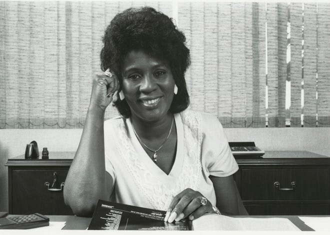 Clara Jackson McLaughlin, shortly after buying the Florida Star in Jacksonville in 2002.