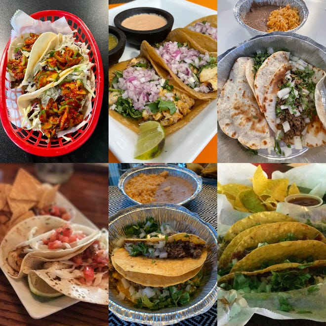 Tacos from a variety of Galesburg restaurants
