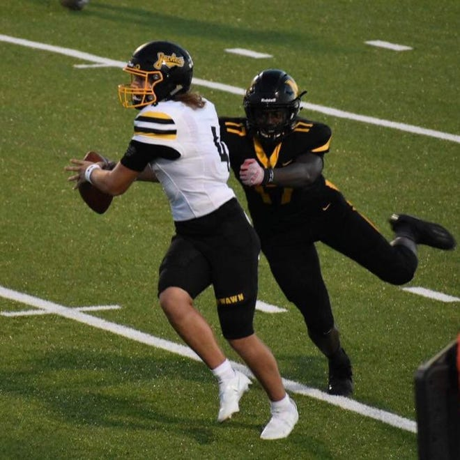 Denison quarterback Caleb Heavner has not thrown an interception in any of the Yellow Jackets four wins and the offense as just one turnover across its victories.