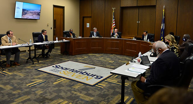 The Spartanburg County School District 7 school board held a meeting on Oct. 5, 2021.  One of the items discussed at the meeting were masks in the district's schools.