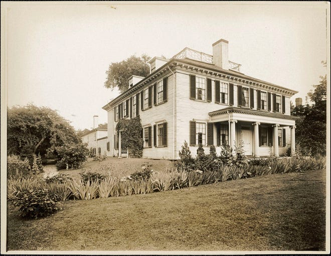 The Loring–Greenough House is the last surviving 18th century residence in Sumner Hill - a historic section of Jamaica Plain. The house at 12 South St. was built in 1758. This photo is from the early 20th century.