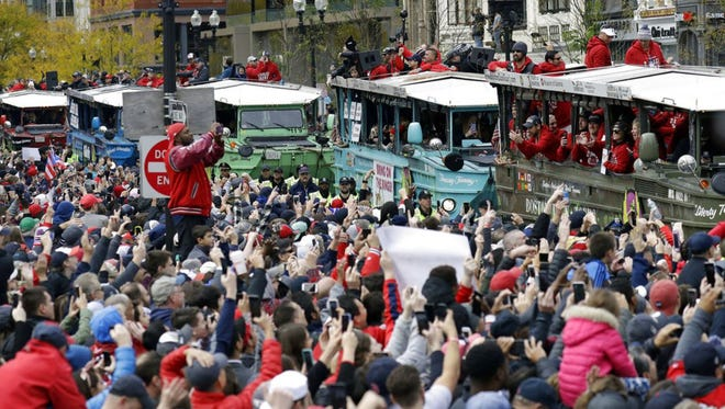 More than a million people lines the streets of Boston to honor the 2018 championship Red Sox team.
