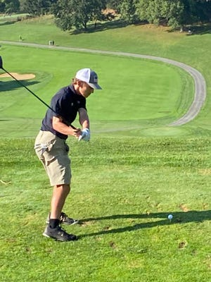 Keyser's Noah Broadwater competes in the Class AA state golf competition at Oglebay
