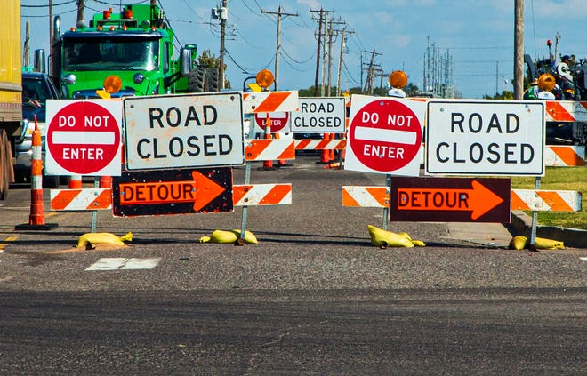 Traffic makes its way around road closures due to road construction on SW 29 in Oklahoma City. Residents who responded to a recent survey said they enjoy living in Oklahoma City, but were less complimentary of the city's streets.