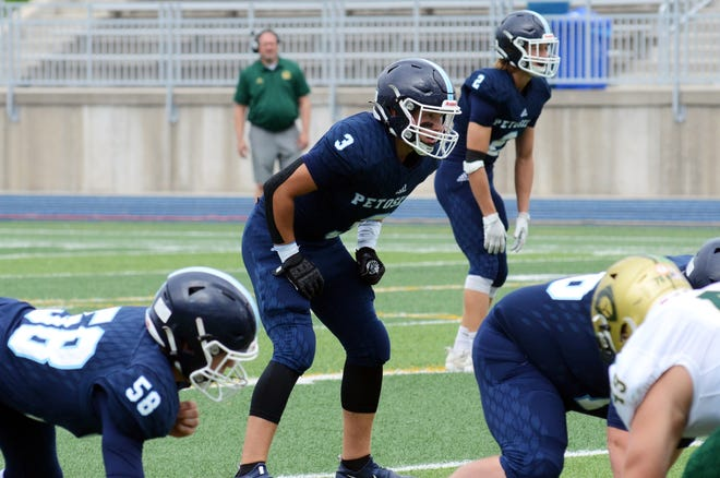 Cadillac's option style offense puts stress on everywhere defensively, putting the pressure on guys like Landyn Karr (58) up front, Ian LaHaie (3) in the linebacker core and Trevor Swiss (2) in the secondary to be on their keys.